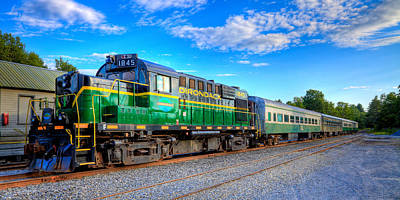 Photograph - The Adirondack Scenic Railroad 2 by David Patterson