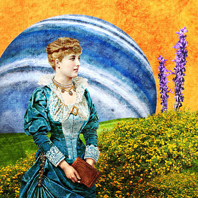 Timeless Mixed Media - The Admirer by Ally White