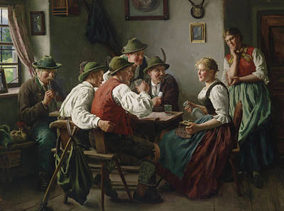 Beer Oil Painting - The Admirers by Emil Rau
