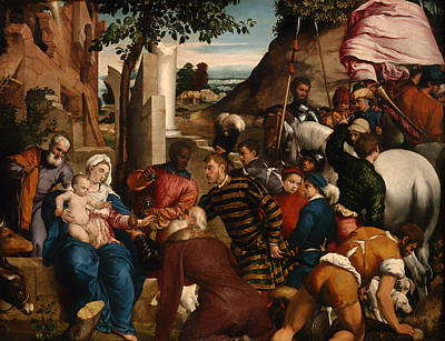 Christian Artwork Painting - The Adoration Of Kings by Mountain Dreams