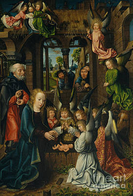 Rejoice Painting - The Adoration Of The Christ Child by Master of Frankfurt