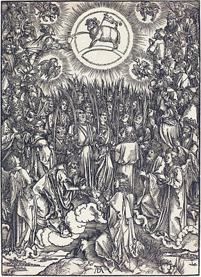 Drawing - The Adoration Of The Lamb by Albrecht Durer