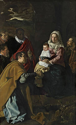 History Painting - The Adoration Of The Magi by Diego Velazquez