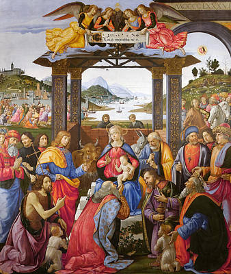 Painting - The Adoration Of The Magi by Domenico Ghirlandaio