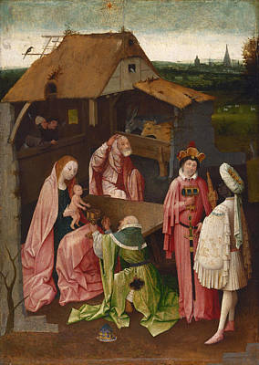 Adoration Painting - The Adoration Of The Magi, Epiphany by Hieronymus Bosch