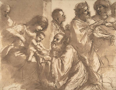 Photograph - The Adoration Of The Magi by Guercino