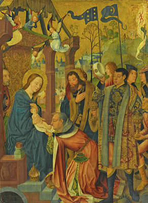 Painting - The Adoration Of The Magi by Master of the Holy Kinship
