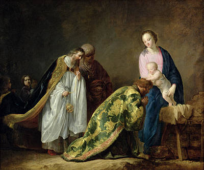 Melchior Painting - The Adoration Of The Magi by Pieter Fransz de Grebber