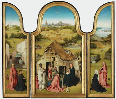 The Adoration Of The Magi Triptych Art Print by Bosch Hieronymus