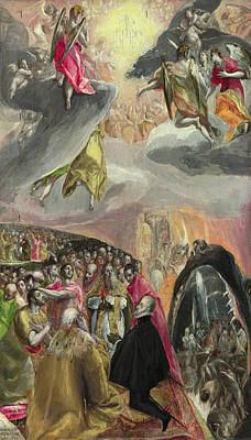 Catholic Painting - The Adoration Of The Name Of Jesus by El Greco
