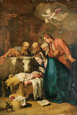 Painting - The Adoration Of The Shepherds by Abraham Bloemaert
