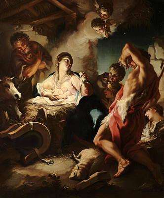 Antonio Balestra Painting - The Adoration Of The Shepherds by Antonio Balestra