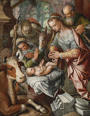 Painting - The Adoration Of The Shepherds by Joachim Beuckelaer