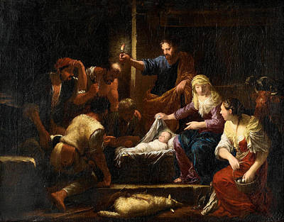 Painting - The Adoration Of The Shepherds by Johann Heiss