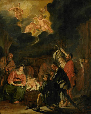 Painting - The Adoration Of The Shepherds by Pieter Codde