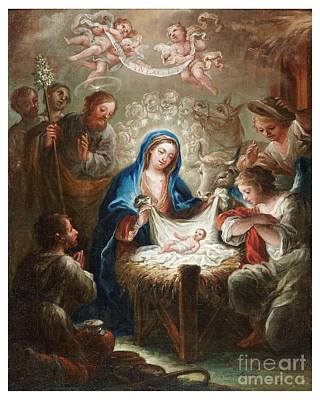 The Adoration Of The Shepherds The Annunciation The Betrothal Art Print