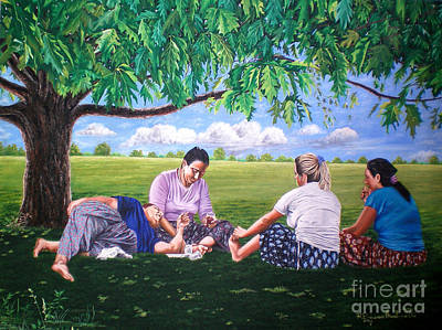 Painting - The Advice -  La Amonestacion by Rezzan Erguvan-Onal