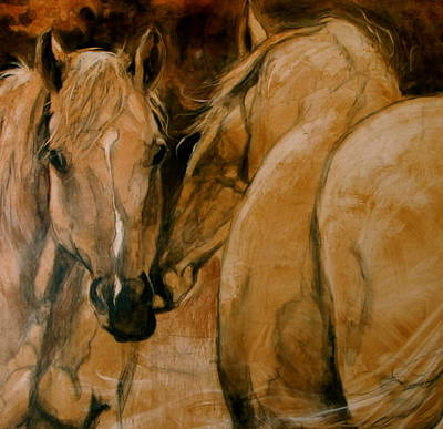 Indian Pony Painting - The Advisor by Mary Leslie