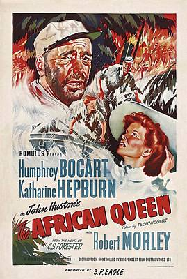 Bogart Photograph - The African Queen B by Movie Poster Prints