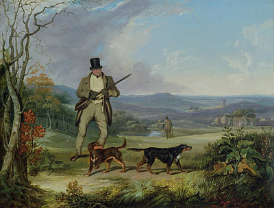 Dog Painting - The Afternoon Shoot   by Philip Reinagle