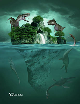 Surrealism Royalty-Free and Rights-Managed Images - The Age of Dinosaurs by Surreal Photomanipulation