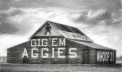 Digital Art - The Aggie Barn by JC Findley