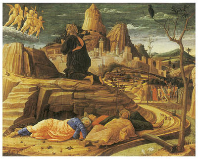 The Agony In The Garden Art Print by Andrea Mantegna