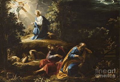 Night Angel Painting - The Agony In The Garden by Guiseppe Cesari