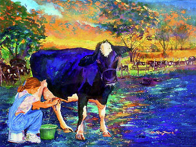 Puerto Rico Painting - The Agronomist by Estela Robles