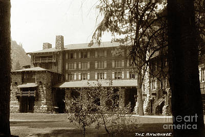 Photograph - The Ahwahnee Hotel Yosemite National Park California Circa 1930 by California Views Archives Mr Pat Hathaway Archives