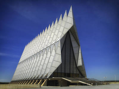 Colorado State University Photograph - The Air Force Academy Chapel by Mountain Dreams
