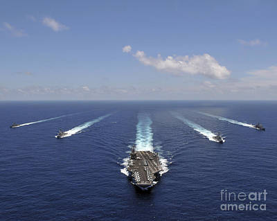 Politicians Royalty-Free and Rights-Managed Images - The Aircraft Carrier Uss Abraham by Stocktrek Images