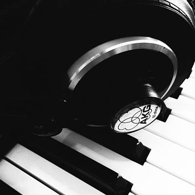 Piano Photograph - The Akg by Jacob Smith