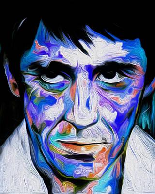 The Al Pacino Scarface By Nixo Art Print