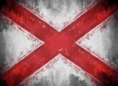 Digital Art - The Alabama Flag by JC Findley