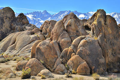 Photograph - The Alabama Hills Beautiful Boulders by Ray Mathis