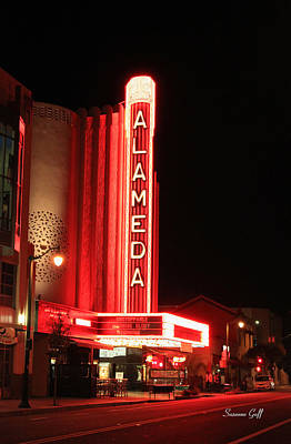 Photograph - The Alameda Theatre by Suzanne Gaff