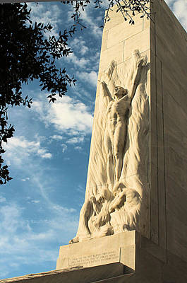 The Alamo Cenotaph Art Print by Sarah Broadmeadow-Thomas