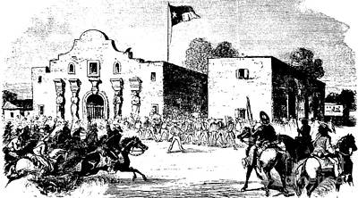 The Alamo Drawing - The Alamo Fort At San Antonio by American School
