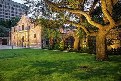 Photograph - The Alamo Grounds - San Antonio Texas by Gregory Ballos