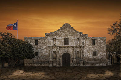 Davy Crockett Photograph - The Alamo Mission In San Antonio by Randall Nyhof