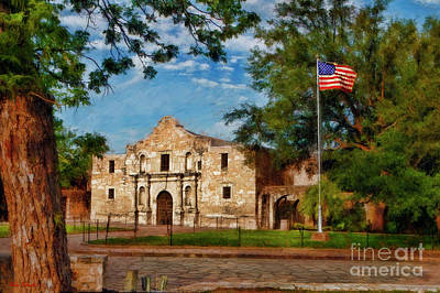 Photograph - The Alamo San Antonio Texas by Blake Richards