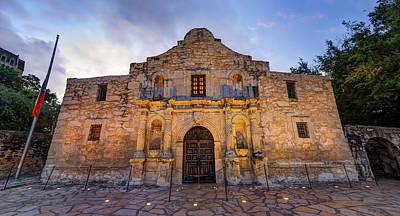 Art Print featuring the photograph The Alamo - San Antonio Texas by Gregory Ballos