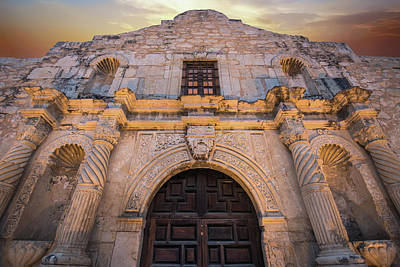 Photograph - The Alamo Under Fire - San Antonio Texas by Gregory Ballos