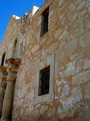 Photograph - The Alamo Upclose by Beth Akerman
