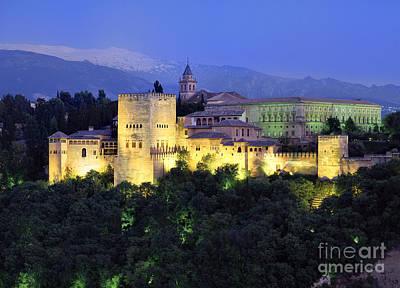 Historic Architecture Photograph - The Alcazaba And Sierra Nevada by Guido Montanes Castillo