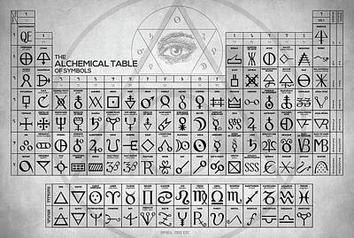 Recently Sold - Fantasy Royalty-Free and Rights-Managed Images - The Alchemical Table of Symbols by Zapista OU