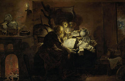 Painting - The Alchemist by David Ryckaert the Younger