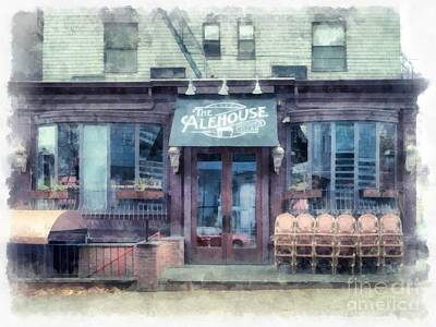 Beer Royalty-Free and Rights-Managed Images - The Alehouse English Cellar Providence Rhode Island by Edward Fielding