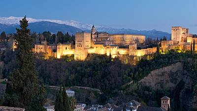 Photograph - The Alhambra At Night by Stephen Taylor